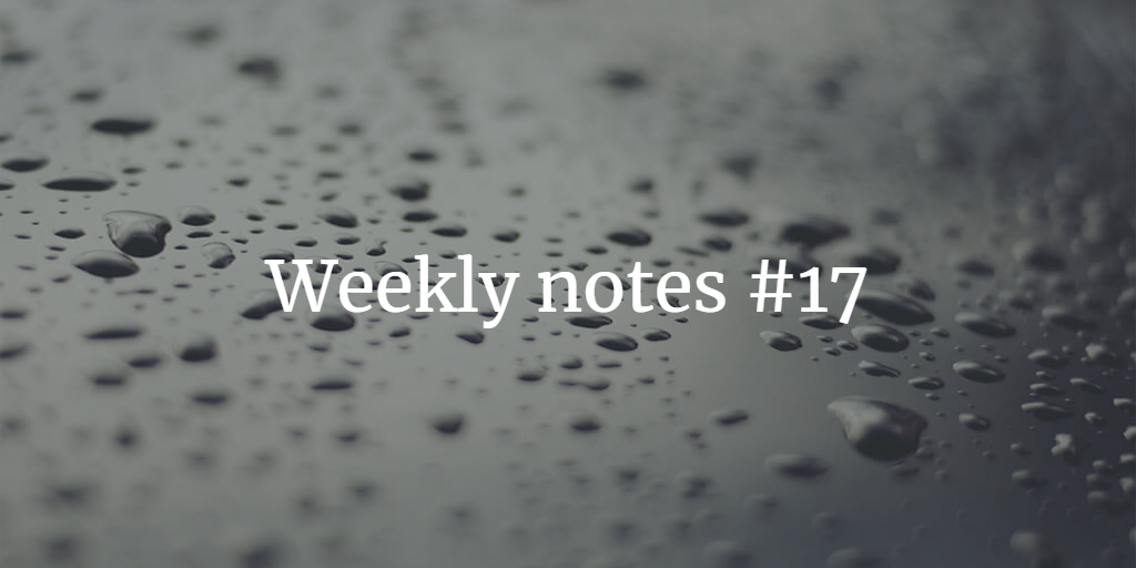 Weekly Notes - #17