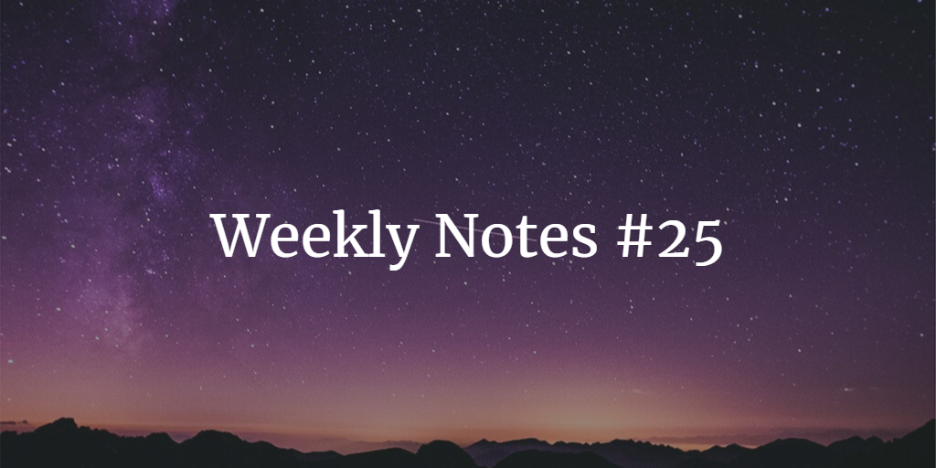 Weekly Notes - #25