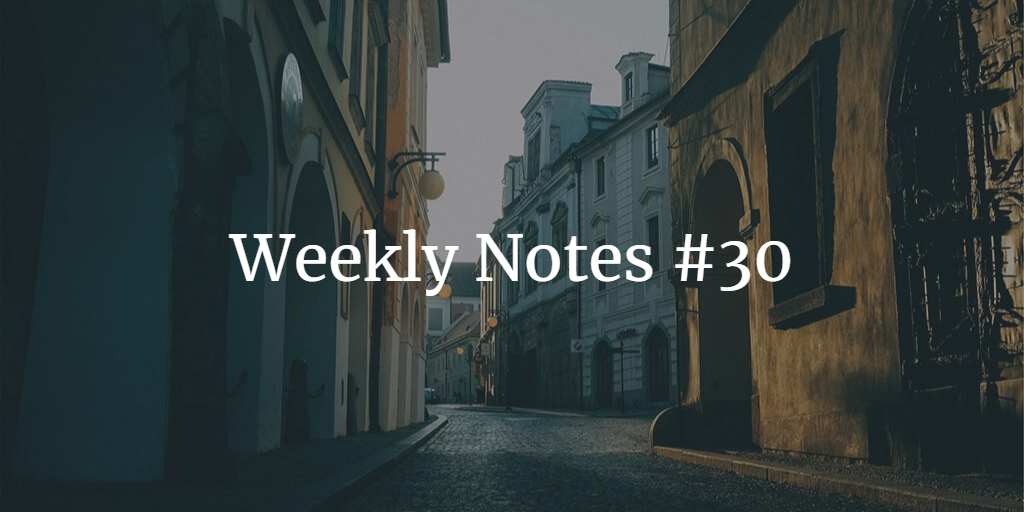 Weekly Notes - #30