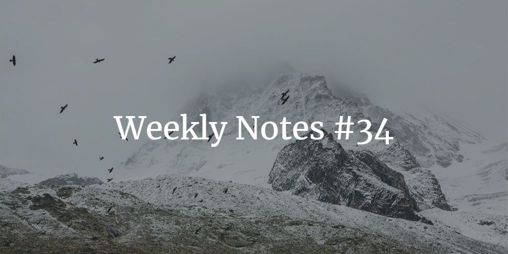 Weekly Notes - #34