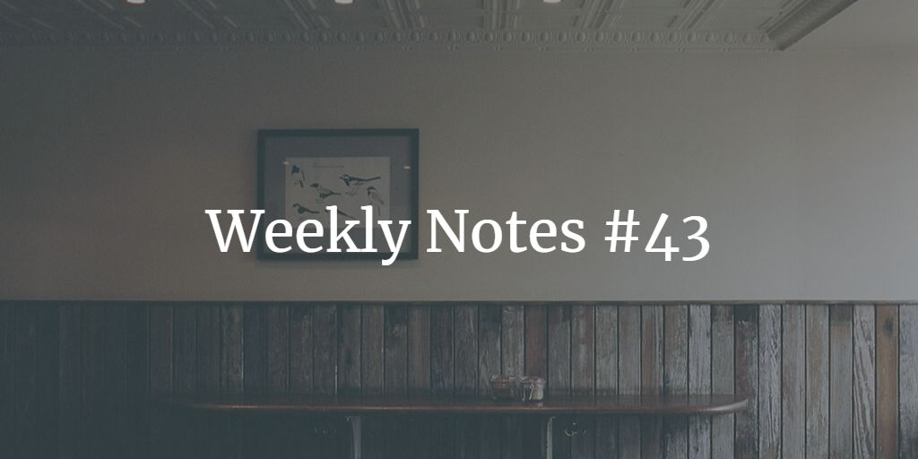 Weekly Notes - #43