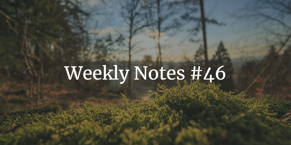 Weekly Notes - #46