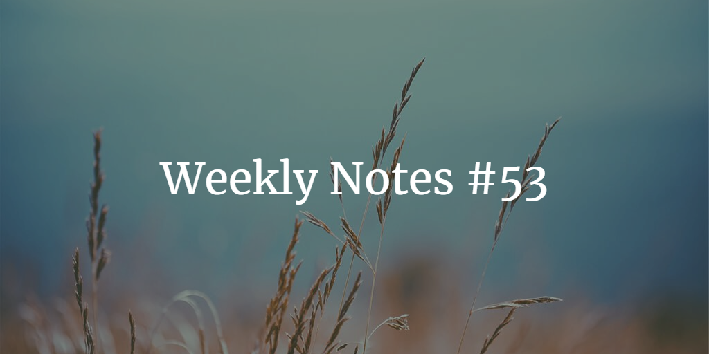 Weekly Notes - #53
